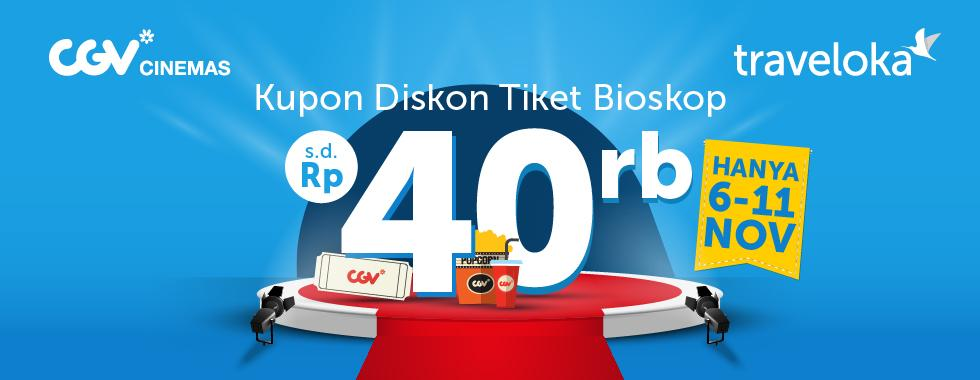 CGV  - Promo Voucher Diskon 25% di Traveloka (s.d 11 Nov 2018)
