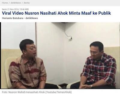 Beredar Video 'Drama' Ahok & Nusron, Netizen: Jangan Mau Dibohongi & Dibodohi Pakai Video Permintaan Maaf, Lawan!