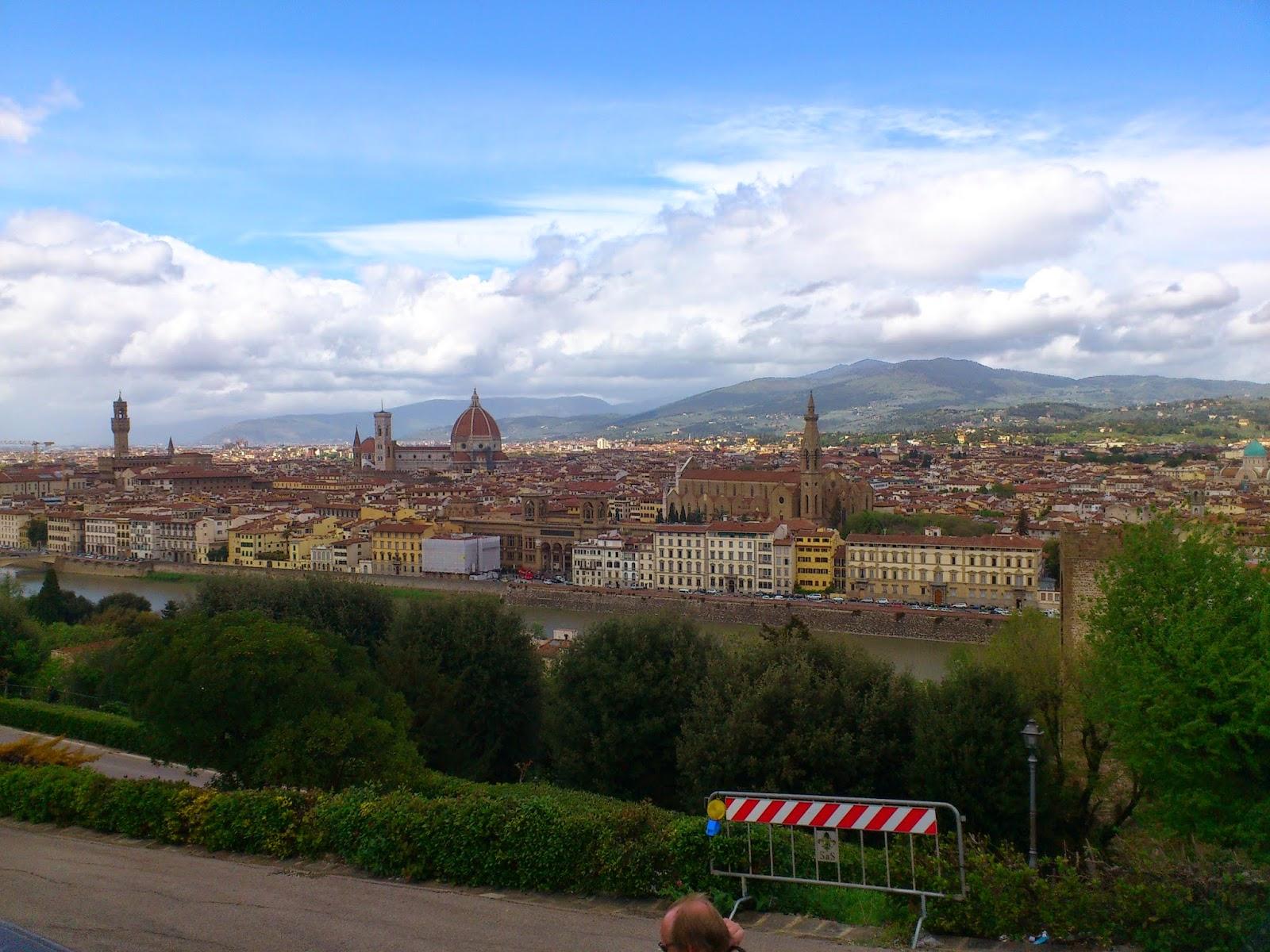 Vista de Florença - Itália. Duomo di Firenze e Palazzo Vecchio