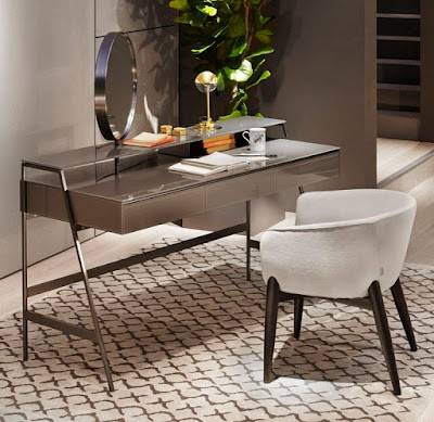 luxurious modern dressing table with small mirror