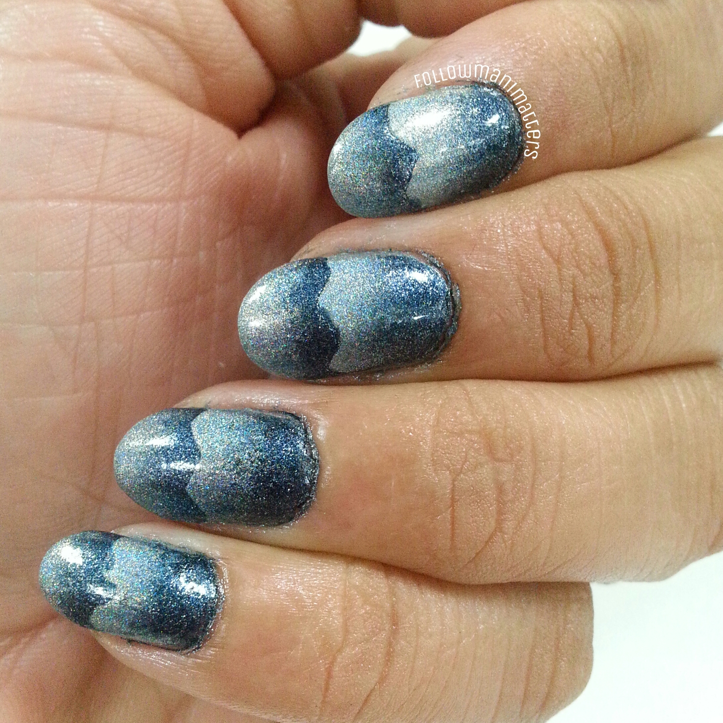 Gradient Nail Art: Manisha's FollowManimatters: Scaled Gradient Nail Art