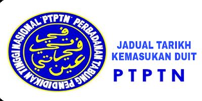 Jadual Tarikh Kemasukan Duit PTPTN 2018