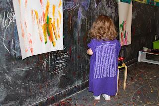 paint smocks/shirts provided