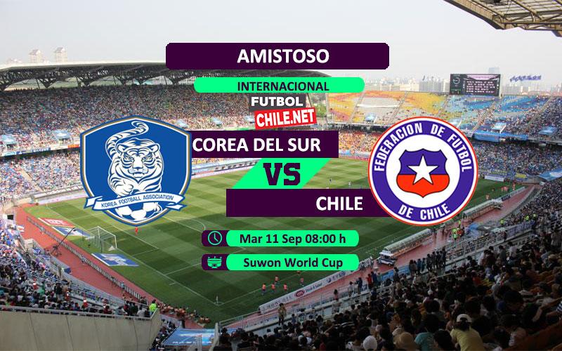 Mira Corea del Sur vs Chile en vivo y online por el Amistoso Internacional