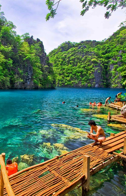 Coron Island is the third-largest island in the Calamian Islands in northern Palawan in the Philippines. The island is part of the larger municipality