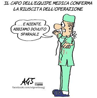berlusconi, operazione, valvola, cardiochirurgia, vignetta, satira