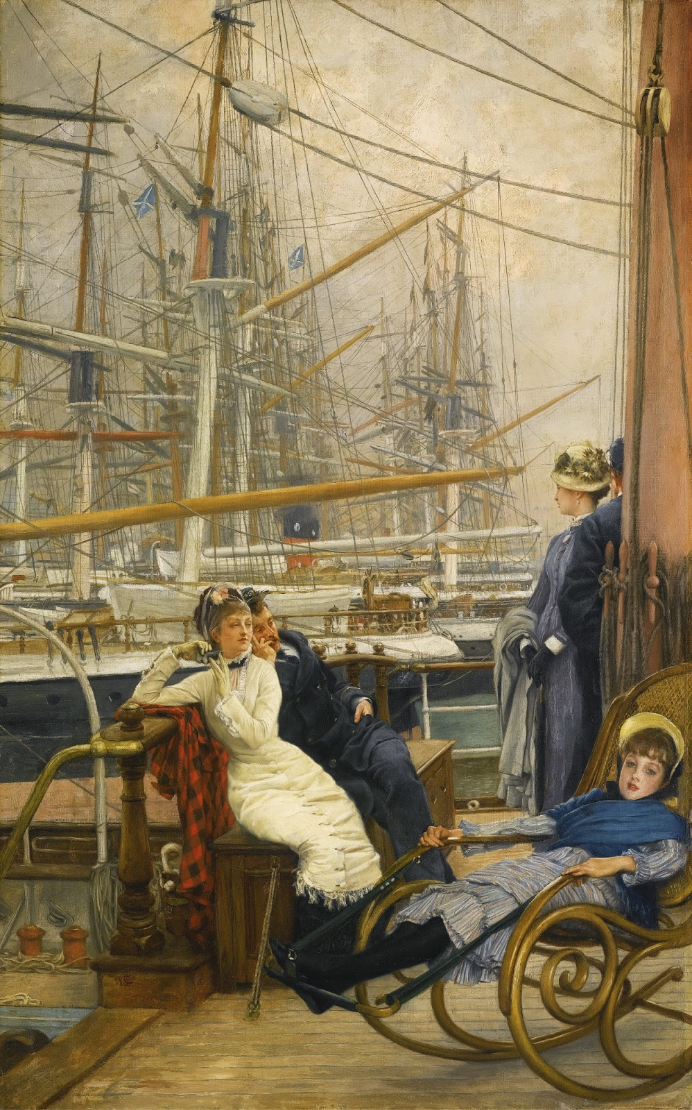 James  Tissot  ( )  A  visit  to  the  yacht