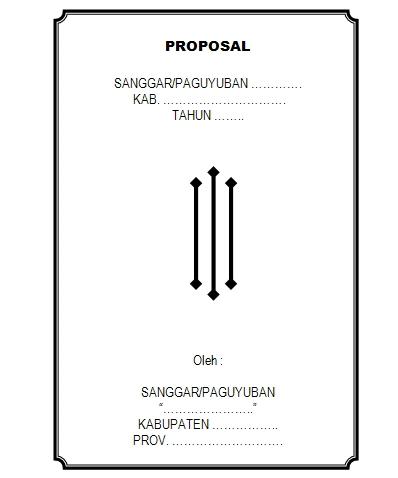 Contoh Sampul Proposal Sumbangan Dana untuk Sanggar