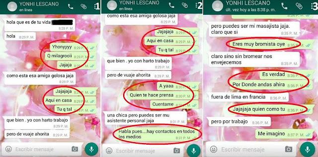 """Congresista Lescano presentó nuevos """"chats sin editar"""" con periodista que lo denunció por acoso sexual"""