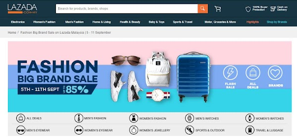 Lazada Big Brand Sale 5th-11th September 2016