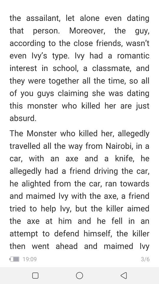 speak%2B3 - Late IVY WANGECHI's classmate speaks and drops a shocker on her alleged boyfriend who killed her, clears HIV rumour.