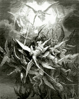 Lucifer cast out of heaven - Gustave Doré