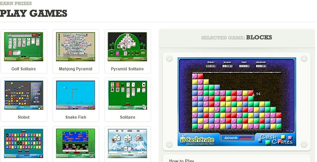 Screenshot  of CashCrate Games