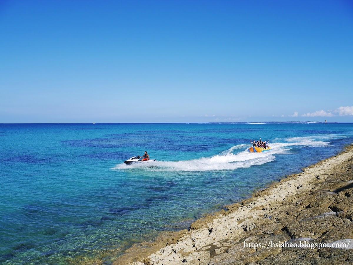 沖繩-景點-安座真SanSan海灘-水上活動-香蕉船-自由行-旅遊-Okinawa-あざまサンサンビーチ-azama-sansan-beach
