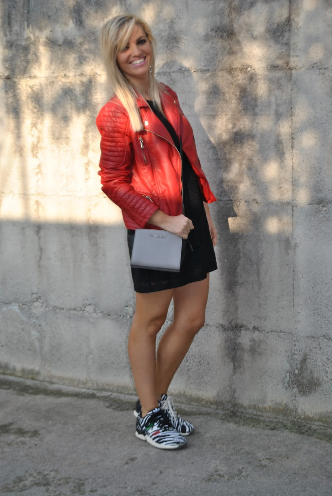 Super Color-Block By FelyM.: OUTFIT: RED BIKER JACKET - COME ABBINARE UN  GX98