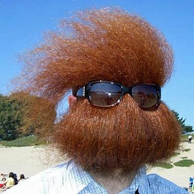 Roter Bart Style lustige  Männerbärte