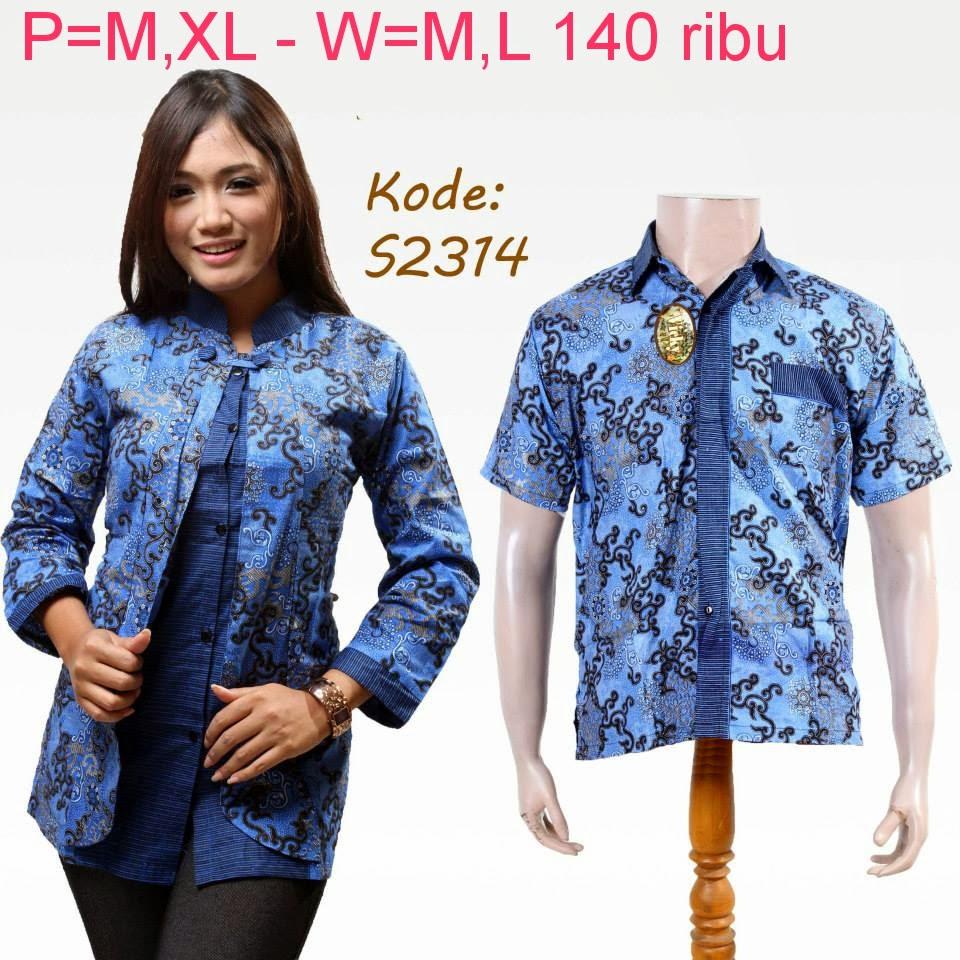 Contoh Gambar Baju Batik Modern: Baju Couple Batik Modern Model Terbaru