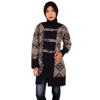 Model Gamis Batik Wanita Gemuk Agar Terlihat Kurus