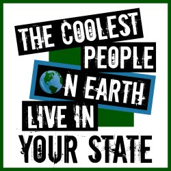 Share Your State Pride! Coolest People on Earth Shirts are Available for All 50 States