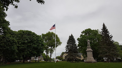 the main flag pole on the Town Common was recently  repainted and hung with a new flag