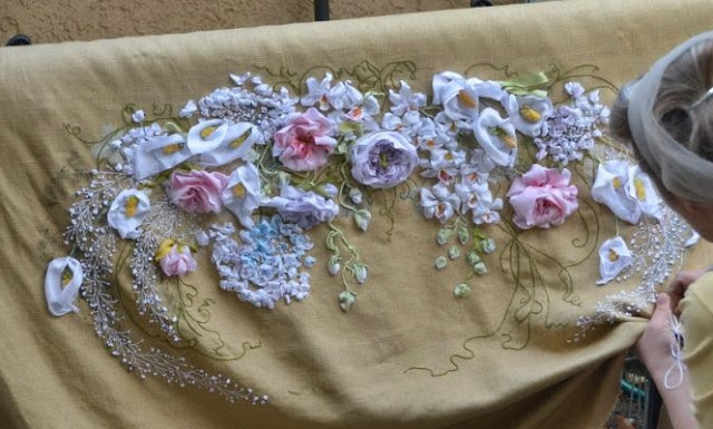 ribon embroidery