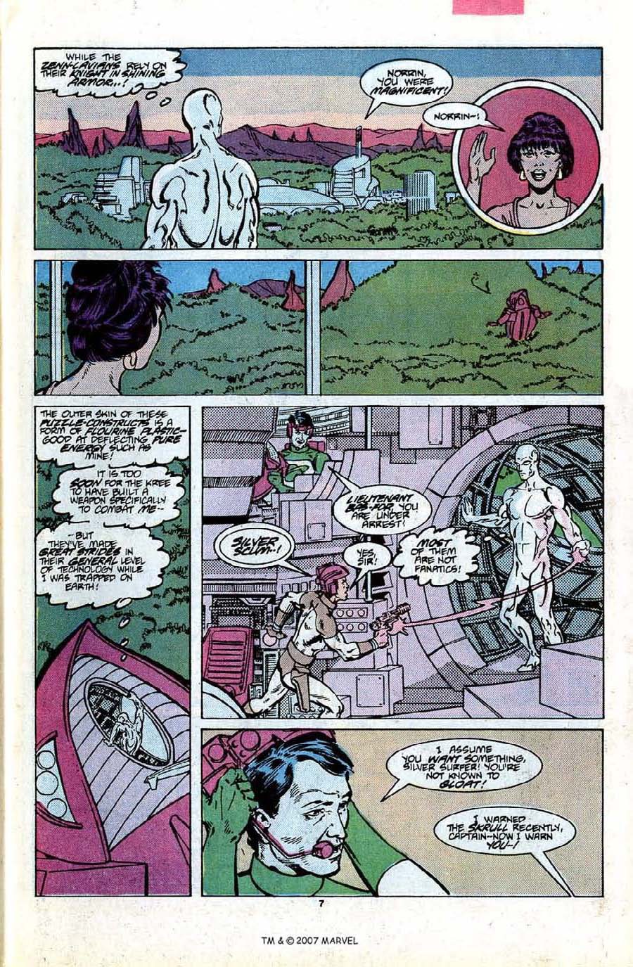 Read online Silver Surfer (1987) comic -  Issue #7 - 11