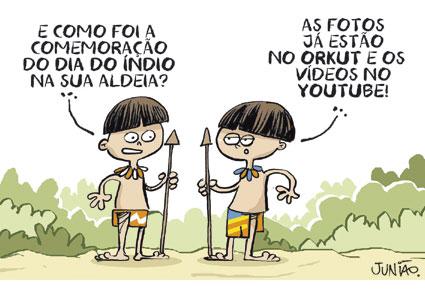 CIEJA Vila Sabrina: REFLEXÃO A PARTIR DE CHARGES INDÍGENAS