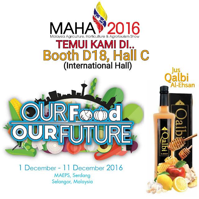Jus Qalbi AL Ehsan Di MAHA 2016 Booth D18, Hall C