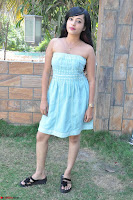 Sahana New cute Telugu Actress in Sky Blue Small Sleeveless Dress ~  Exclusive Galleries 042.jpg