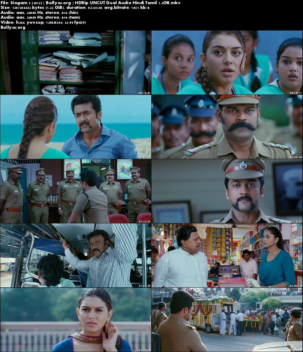 Singam 2 2013 HDRip UNCUT Hindi Dubbed Dual Audio 720p Download