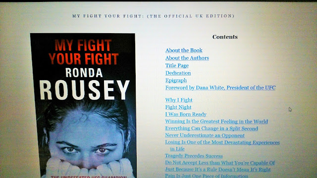 MMA Ronda Rousey Book My fight Your fight