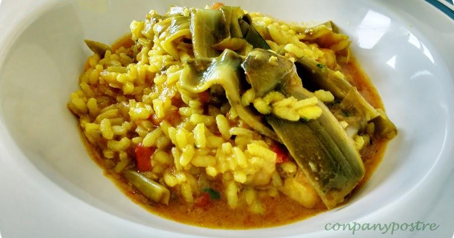 Con pan y postre arroz caldoso con bacalao y alcachofas - Arroz caldoso con costillas y alcachofas ...