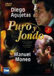 """MANUEL MONEO """"PURO Y JONDO"""" DIVISA 2002 CAPITULOS DE UNA HORA DE DURACIÓN EMITIDO POR LA 2 DE TVE QUE LUEGO SALDRÍA  EN DEVD A DOS CAPITULOS POR SOPORTE, MANUEL MONEO COMPARTE  DVD CON DIEGO AGUJETAS"""