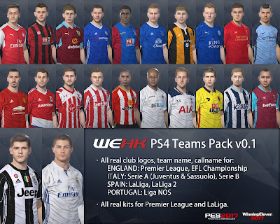 PES 2014 PS4 Option File WEHK All-in-one
