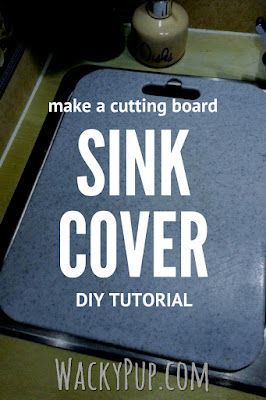 DIY Sink Cover Tutorial for Small Kitchens by Wacky Pup! RV Camper Apartment! Genius!