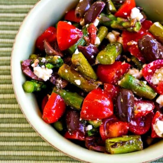 Twenty Favorite Low-Carb Asparagus Recipes found on KalynsKitchen.com