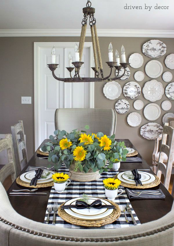 Plate wall dining room