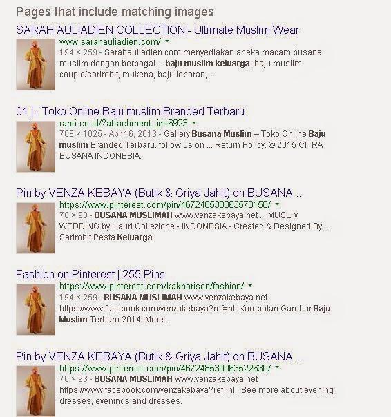 Hasil pencarian menggunakan gambar