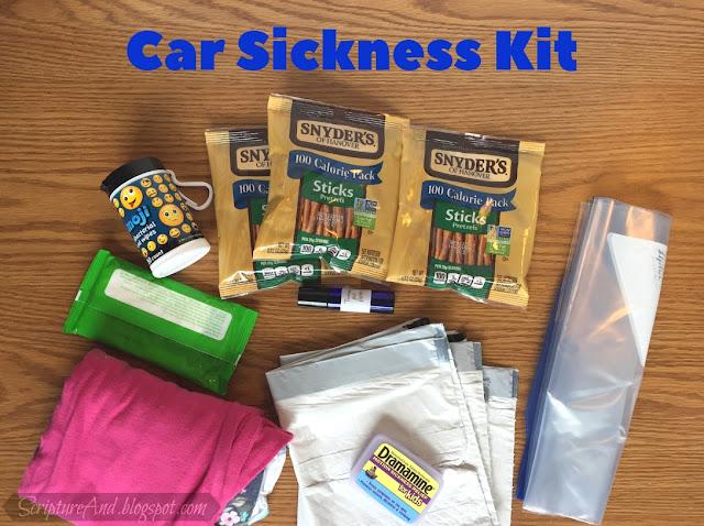 Car Sickness Kit | scriptureand.blogspot.com