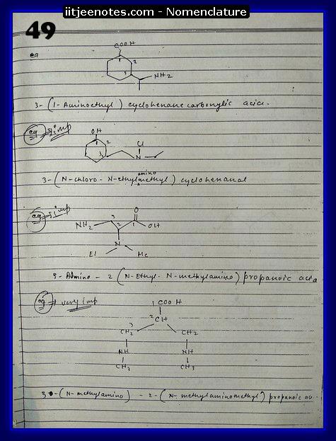nomenclature organic6