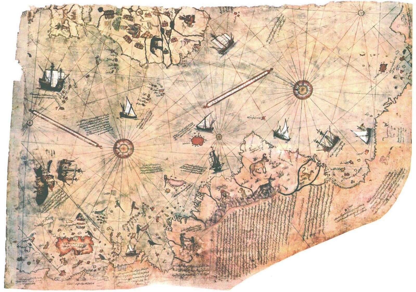 the piri reis map of the world in 1513