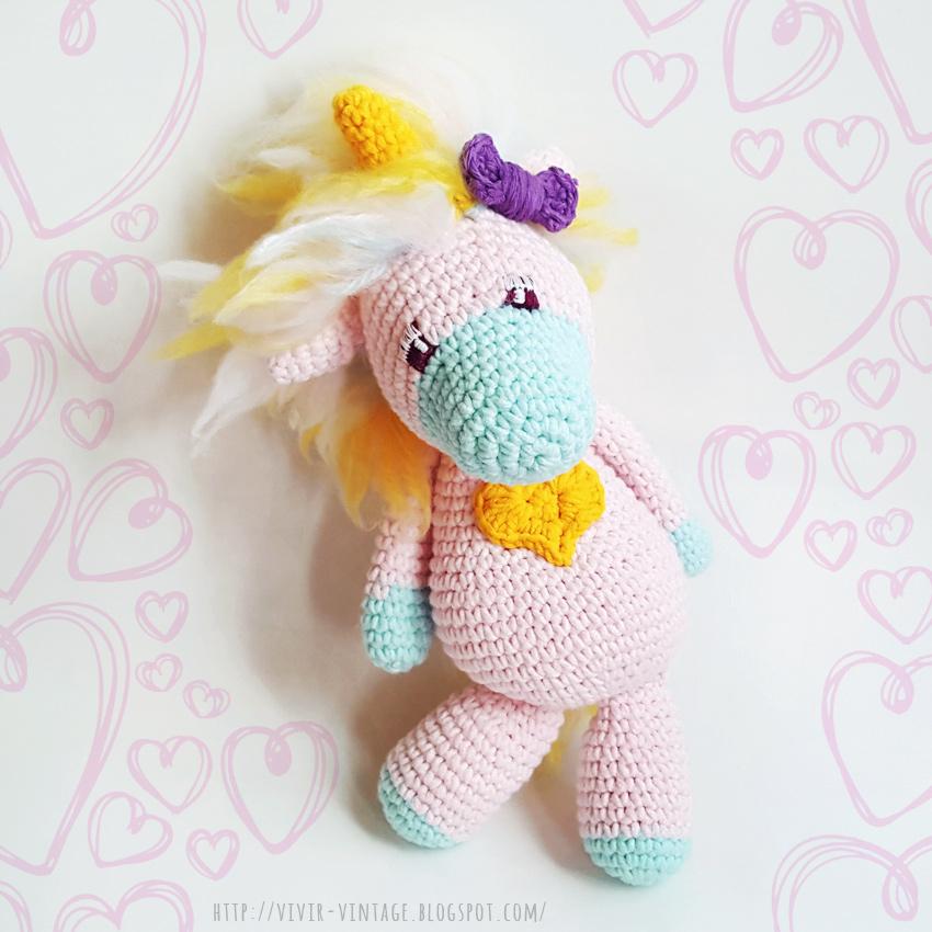 unicornio patron gratis amigurumi