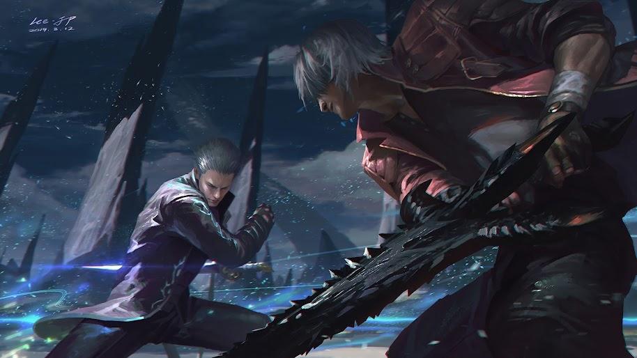 Devil May Cry 5 Vergil Vs Dante 4k Wallpaper 71