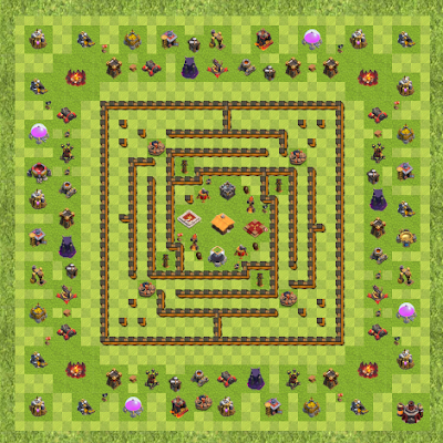 War Base Town Hall Level 10 By Zyneks (Anti 2 Star TH 10 Layout)