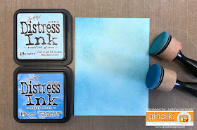 Two Layer Ink Blending with Stencils Tutorial by Juliana Michaels using Gina K Designs Stencils and Ranger Distress Ink