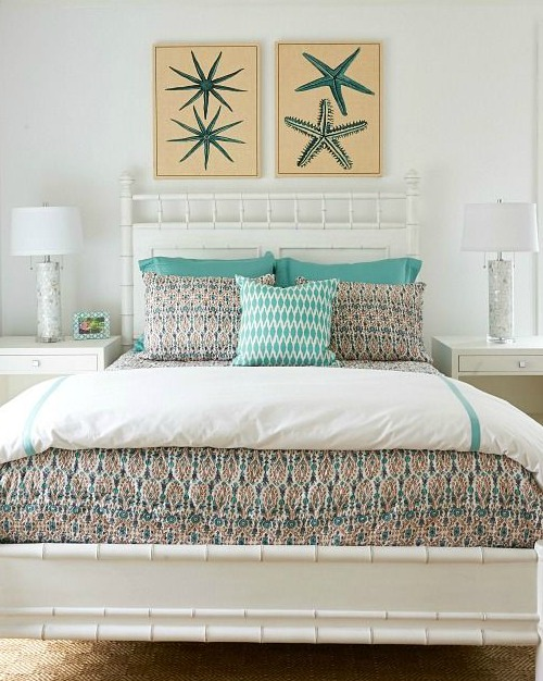Coastal Art above Bed