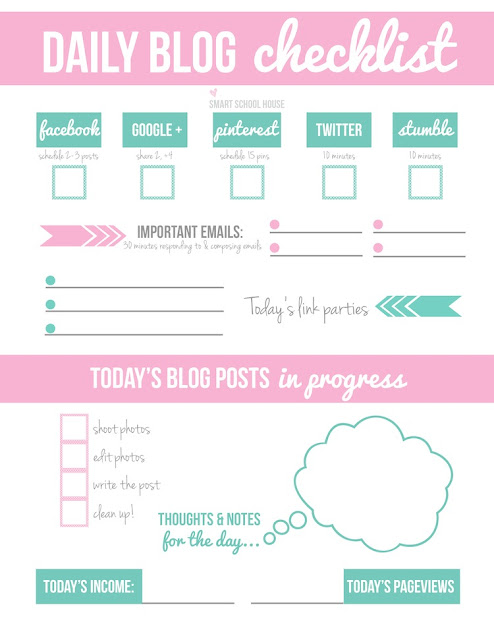 daily blog planner