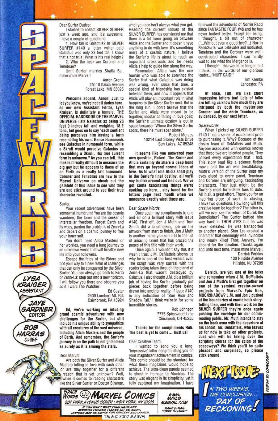Read online Silver Surfer (1987) comic -  Issue #144 - 43