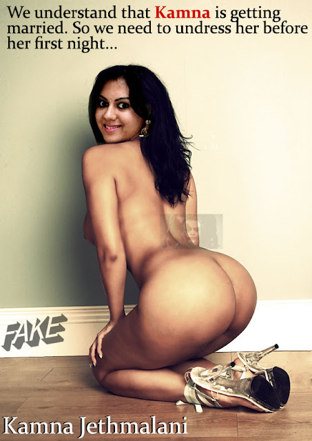 Full nude Kamna Jethmalani sexy round ass naked back pose without dress pic
