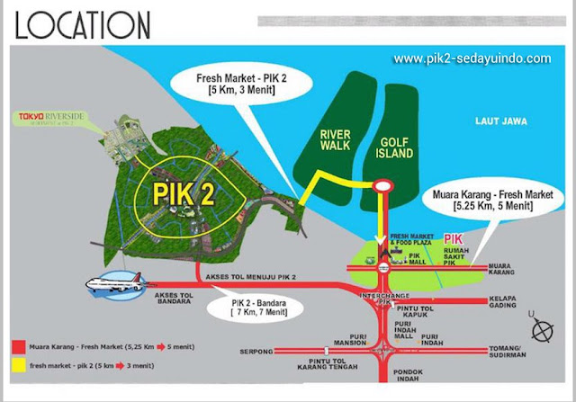 PIK 2 Sedayu Indo City Apartment Map Location